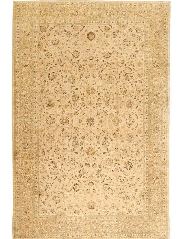113: Antique Tabriz Persian Rug / Carpet 41516