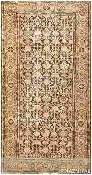 ANTIQUE PERSIAN MALAYER CARPET, 9 ft 8 in x 4 ft 10 in