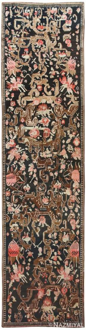 ANTIQUE CAUCASIAN KARABAGH RUG, 14 ft 7 in x 4 ft