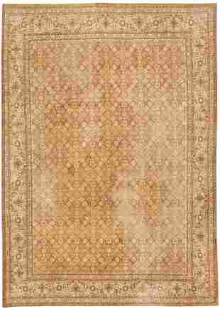 ANTIQUE PERSIAN TABRIZ RUG, 11 ft x 8 ft