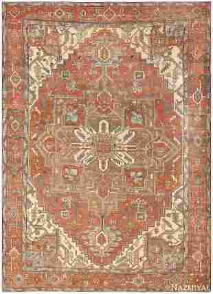 ANTIQUE PERSIAN SERAPI CARPET, 12 ft 10 in x 9 ft 9 in