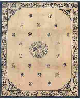 ANTIQUE CHINESE RUG, 11 ft 6 in x 9 ft 2 in