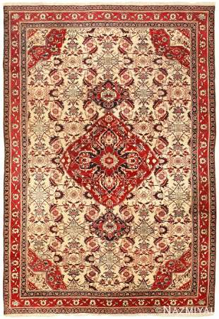 ANTIQUE INDIAN AGRA RUG, 8 ft 9 in x 6 ft
