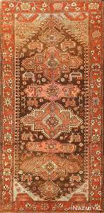 ANTIQUE TRIBAL CAUCASIAN KAZAK RUG, 8 ft x 4 ft