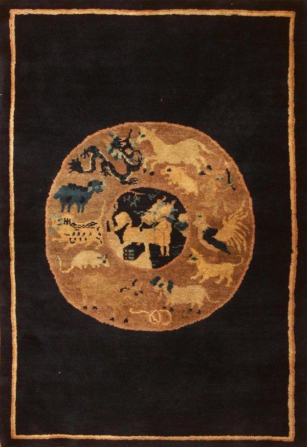 5: Antique Chinese Oriental Carpet 44057