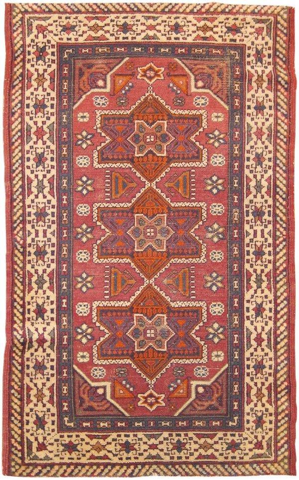 6: Antique Bezalel Judaica Rug from Israel 41553