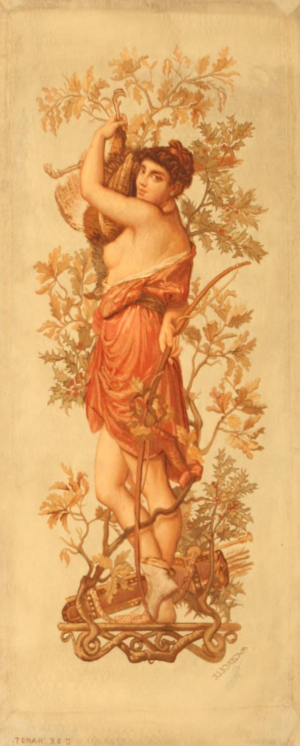 8: Antique Aubusson French Rug Nude Woman 43912