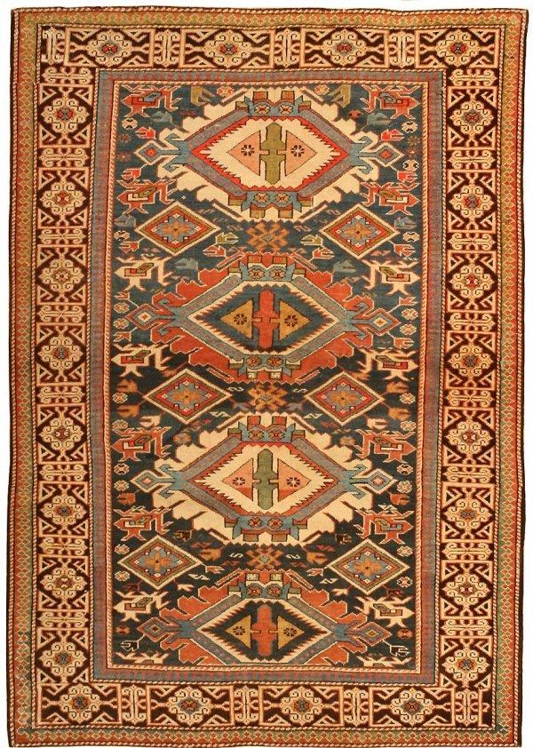 10: Antique Caucasian Shirvan Rug 43254