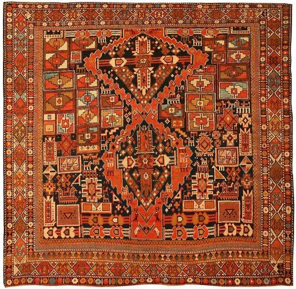11: Antique Caucasian Shirvan Rug 43496