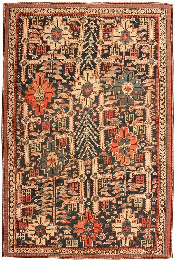 14: Antique Caucasian Shirvan Rug 43304