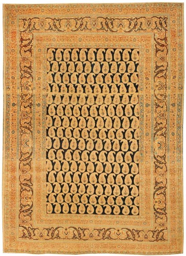 18: Antique Tabriz Haj Jalili Persian Rug 44053
