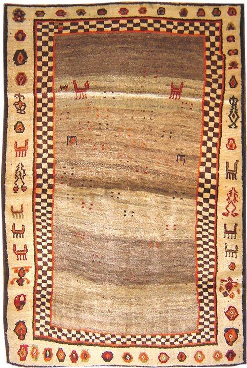 22: Primitive Gabbeh Persian Rug  16501