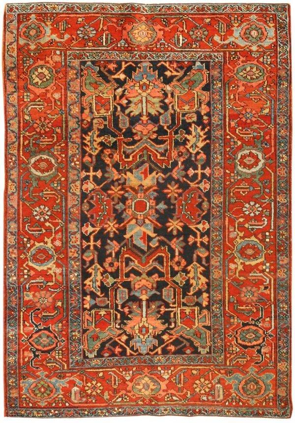 23: Antique Heriz Serapi Persian Carpet 43500