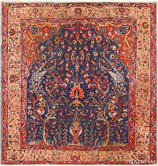 ANTIQUE PERSIAN BAKHTIARI TREE OF LIFE RUG.