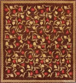 ANTIQUE SAVONNERIE FRENCH RUG.