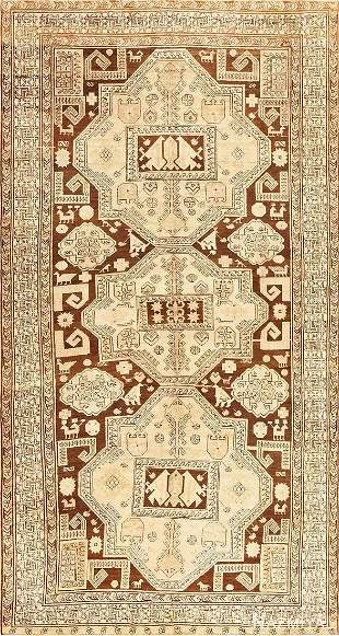 ANTIQUE CAUCASIAN TRIBAL KARABAGH RUG