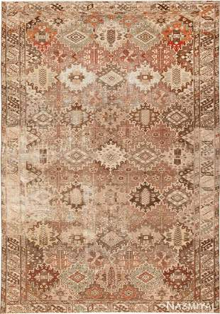 ANTIQUE PERSIAN SHABBY CHIC MALAYER RUG.