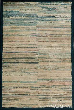 ABSTRACT ANTIQUE MONGOLIAN RUG. 5 ft 7 in x 3 ft 9 in