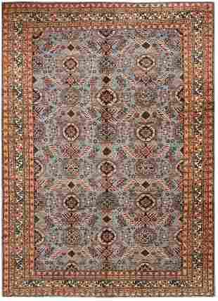 VINTAGE TURKISH CARPET. 10 ft 10 in x 8 ft