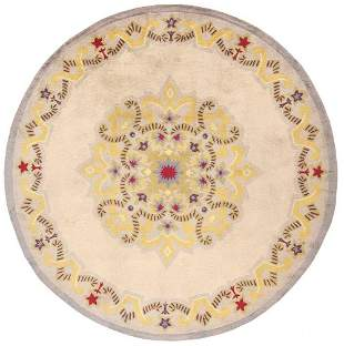 FRENCH CIRCULAR ART DECO CARPET DESIGNED BY JULES