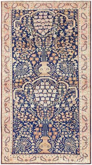 UNUSUAL ANTIQUE PERSIAN AFSHAR RUG. 7 ft 4 in x 4 ft