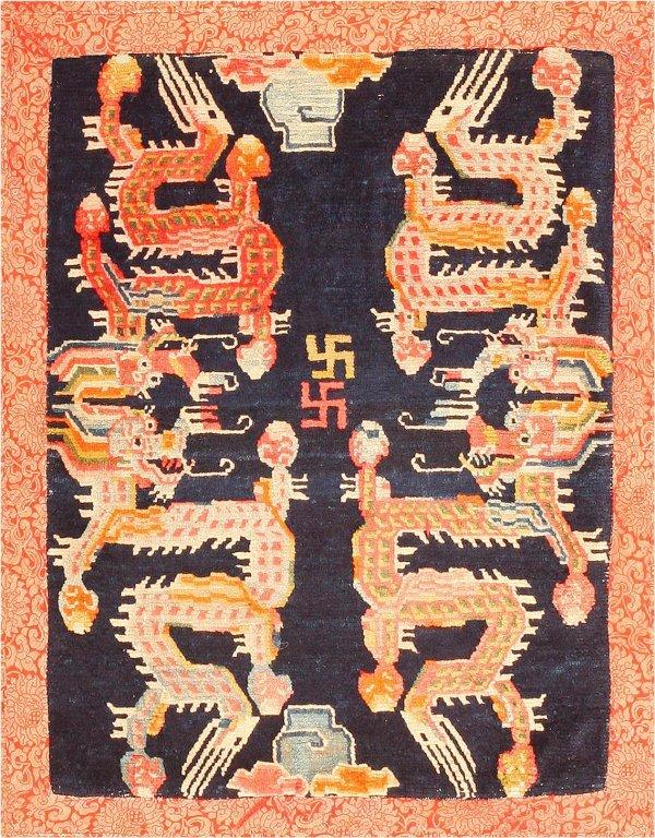 3: Tibetan Rug, Early 20th Century