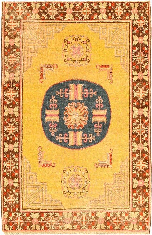 14: Antique Khotan East Turkestan, Late 19th Century
