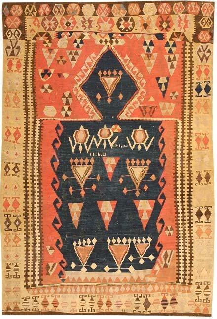 16: Antique Turkish Kilim Carpet - circa 1900