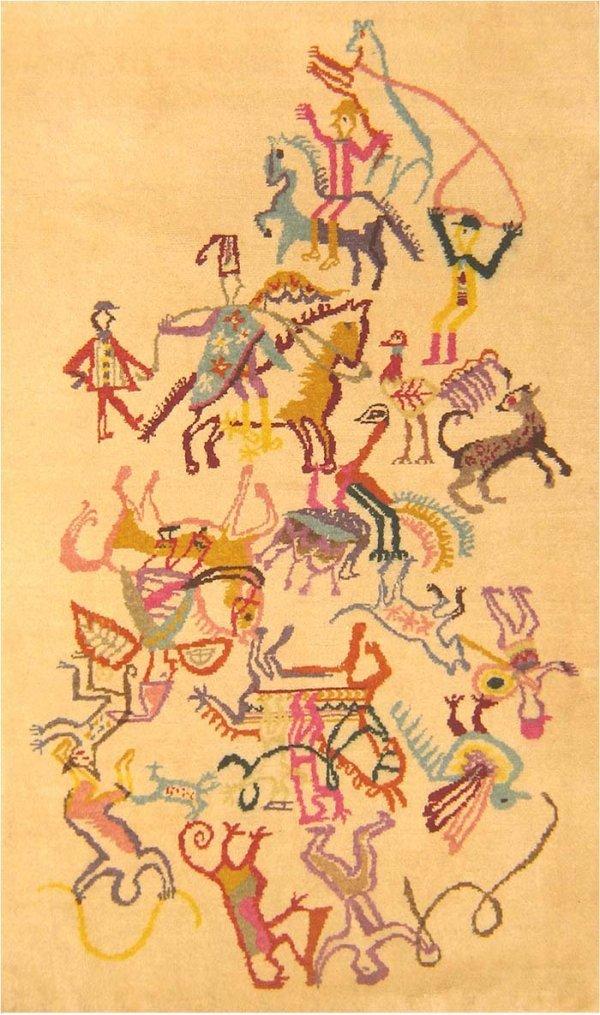 20: Pictorial Rug,Ecuadorian, Early 20th Century