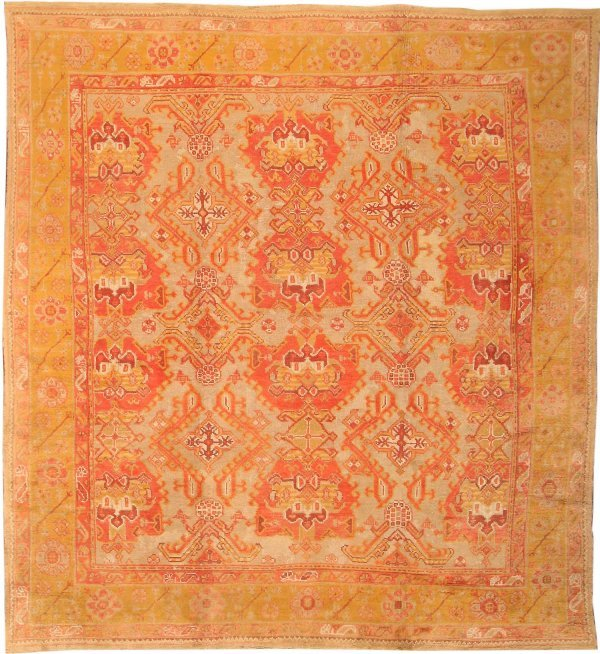 38: Antique Oushak / Ushak Turkish Rug, early 20th cent