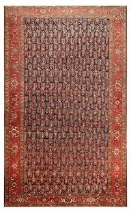 ANTIQUE PERSIAN HERIZ RUG. 14 ft 2 in x 8 ft 8 in