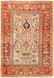 ANTIQUE PERSIAN SULTANABAD CARPET. 10 ft 8 in x 7 ft 10