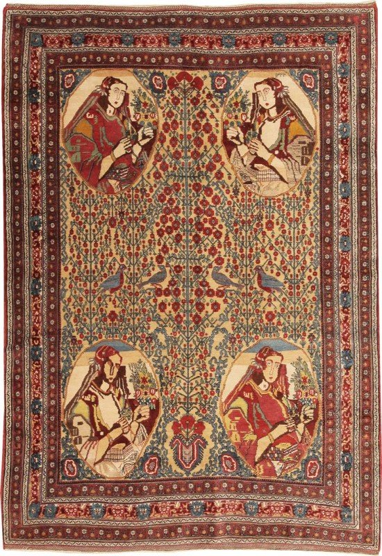 116: Afshar Persian Rug Turn of the Century