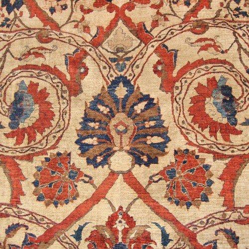126: Silk Heriz Persian Rug 19th Century - 2