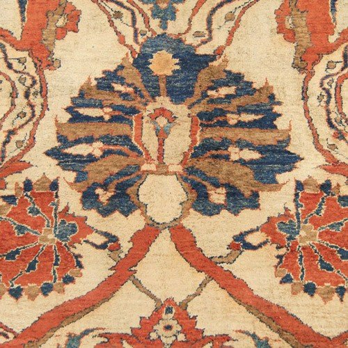 126: Silk Heriz Persian Rug 19th Century - 4