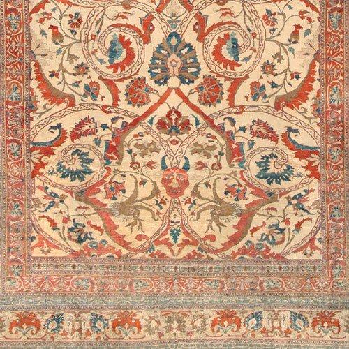 126: Silk Heriz Persian Rug 19th Century - 5