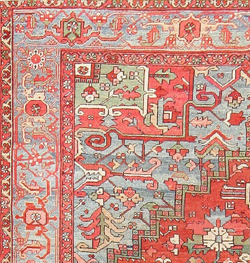 Antique Geometric Persian Heriz Serapi Carpet / Rug - 2
