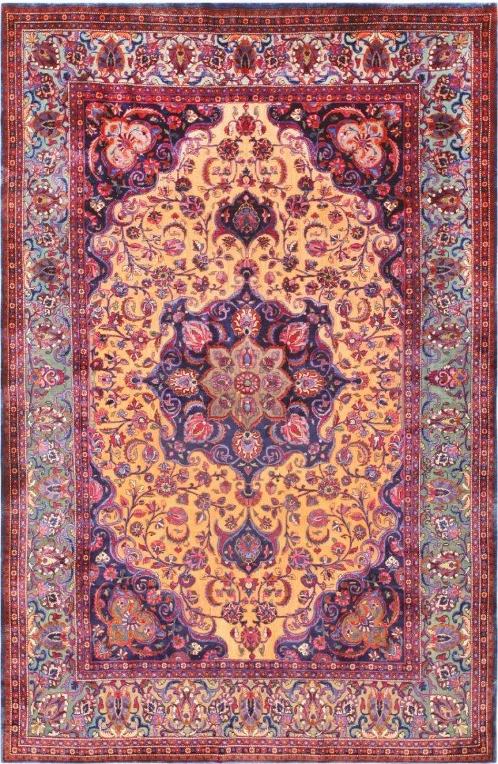 Antique Persian Souf Kashan Silk Amp Wool Rug Carpet May