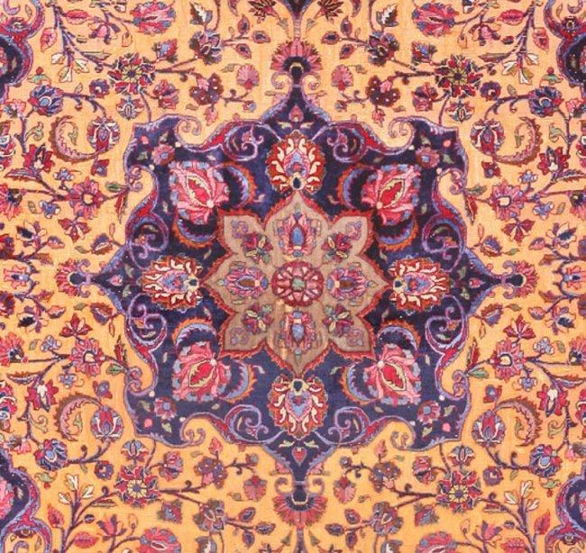 Antique Persian Souf Kashan Silk Amp Wool Rug Carpet Lot 118