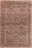 Antique Persian Floral Kerman / Kirman Rug Carpet