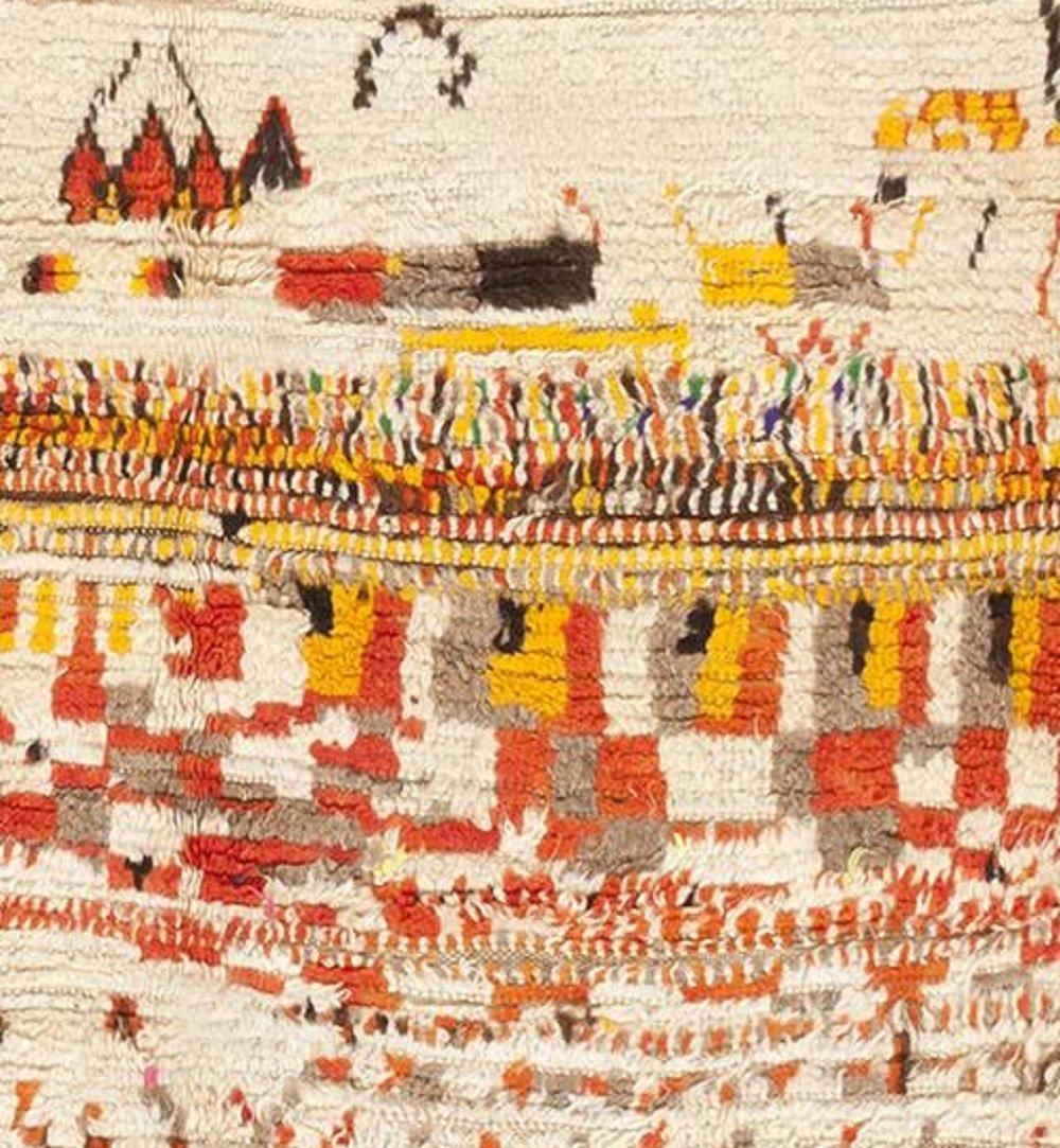 Vintage Mid Century Modern Moroccan Berber Rug Carpet - 3