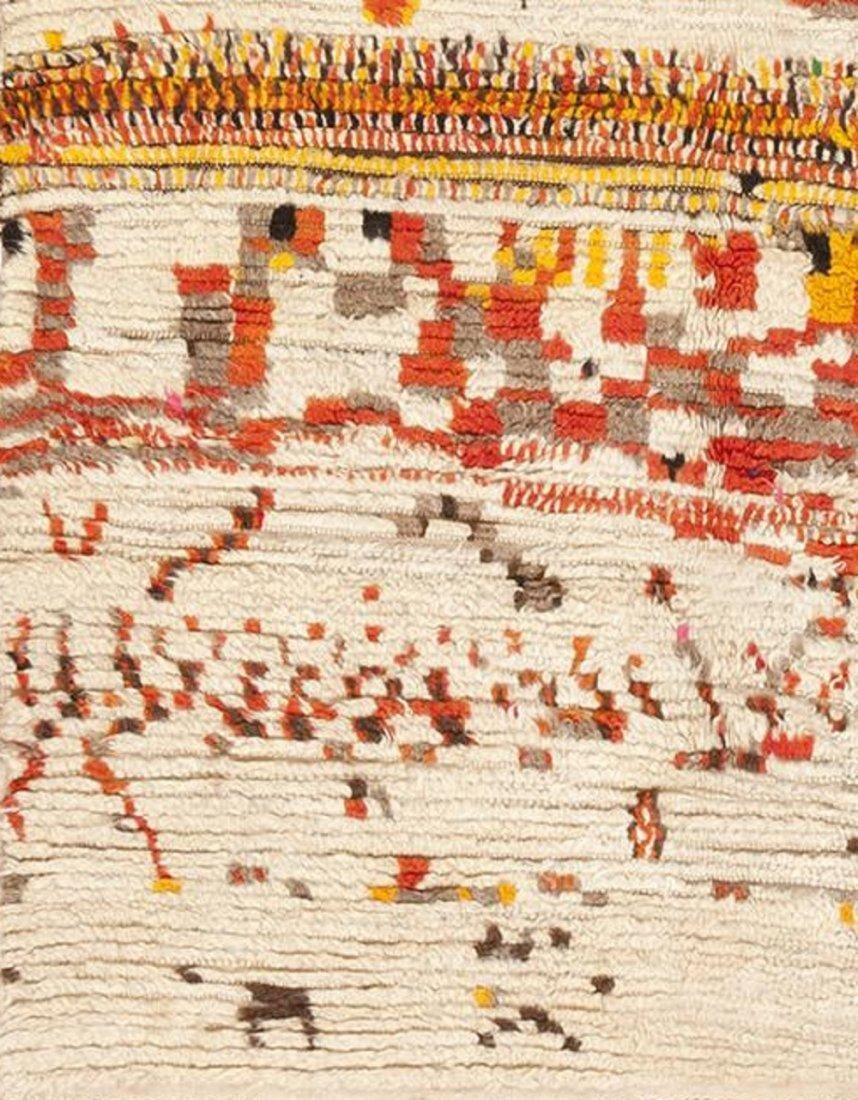 Vintage Mid Century Modern Moroccan Berber Rug Carpet - 4