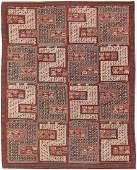Antique Flat Weave Soumak Caucasian Dragon Rug Carpet