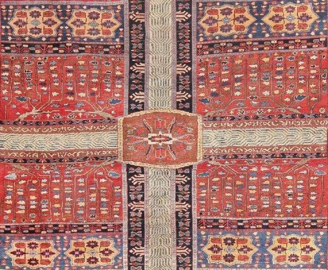 Antique Persian Bakshaish Garden Design Carpet Lot 107