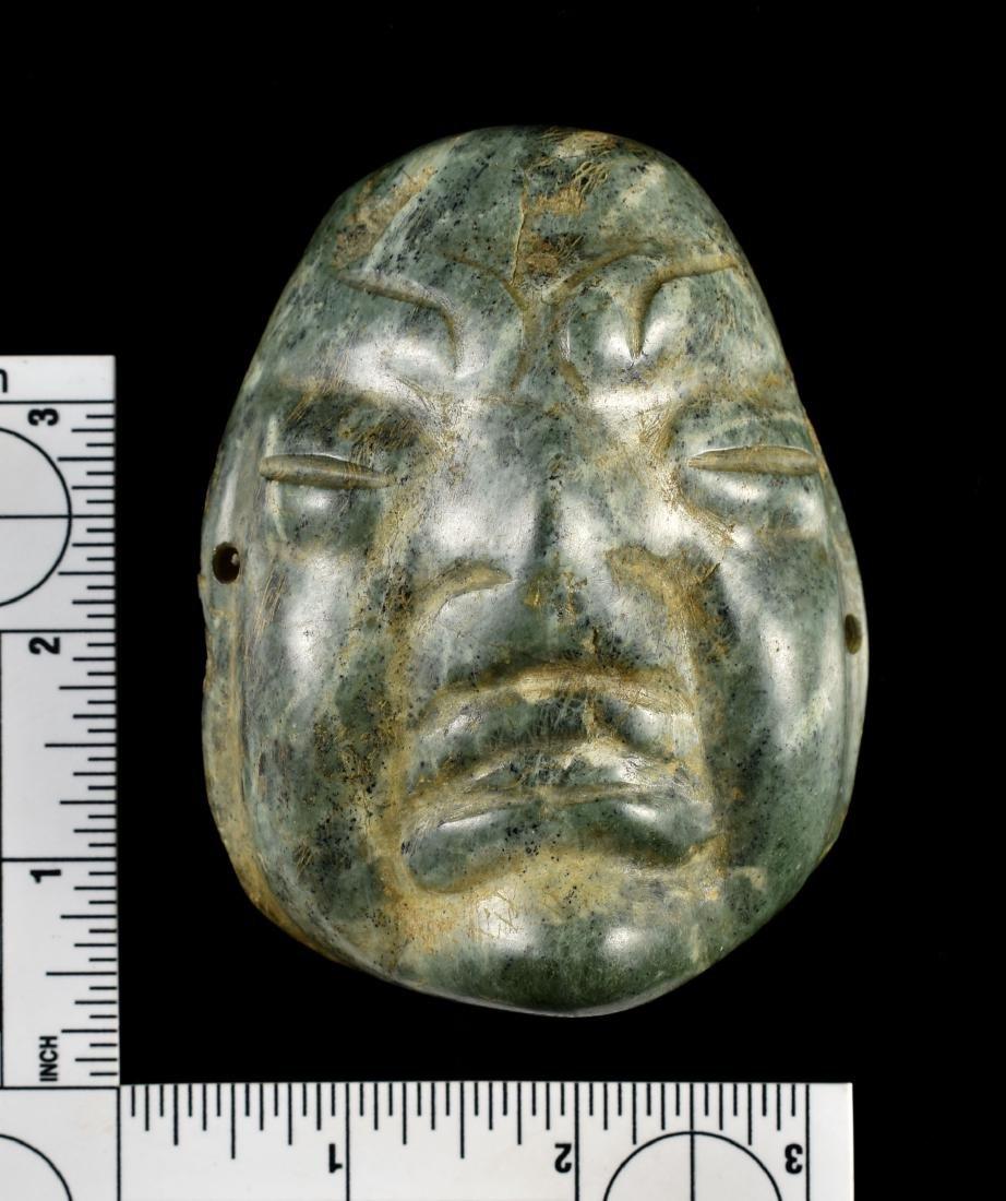 "3 3/4"" Olmec Jade Mask - Butler COA"