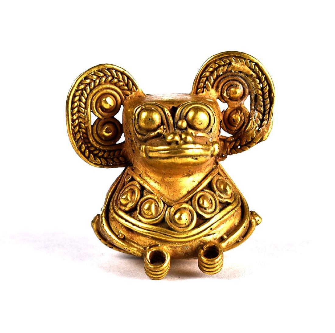 """1 7/16"""" Tumbago Gold Figurine"""
