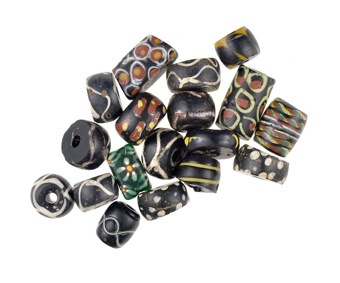 Assortment of Black Fancy Trade Beads