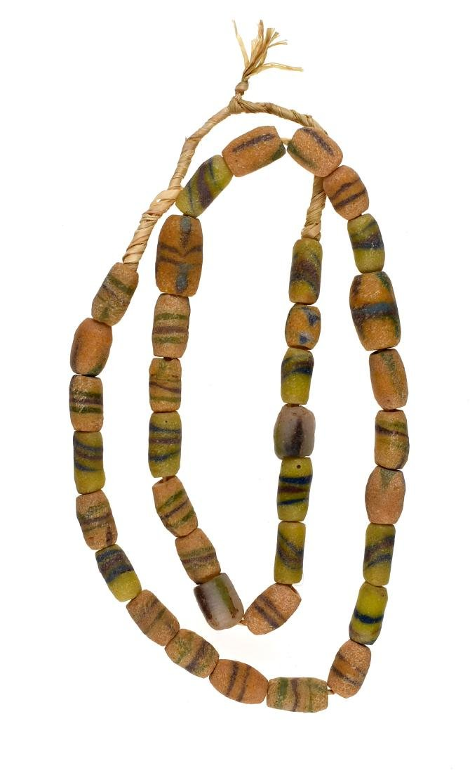 """22"""" String of Sand Cast Trade Beads"""