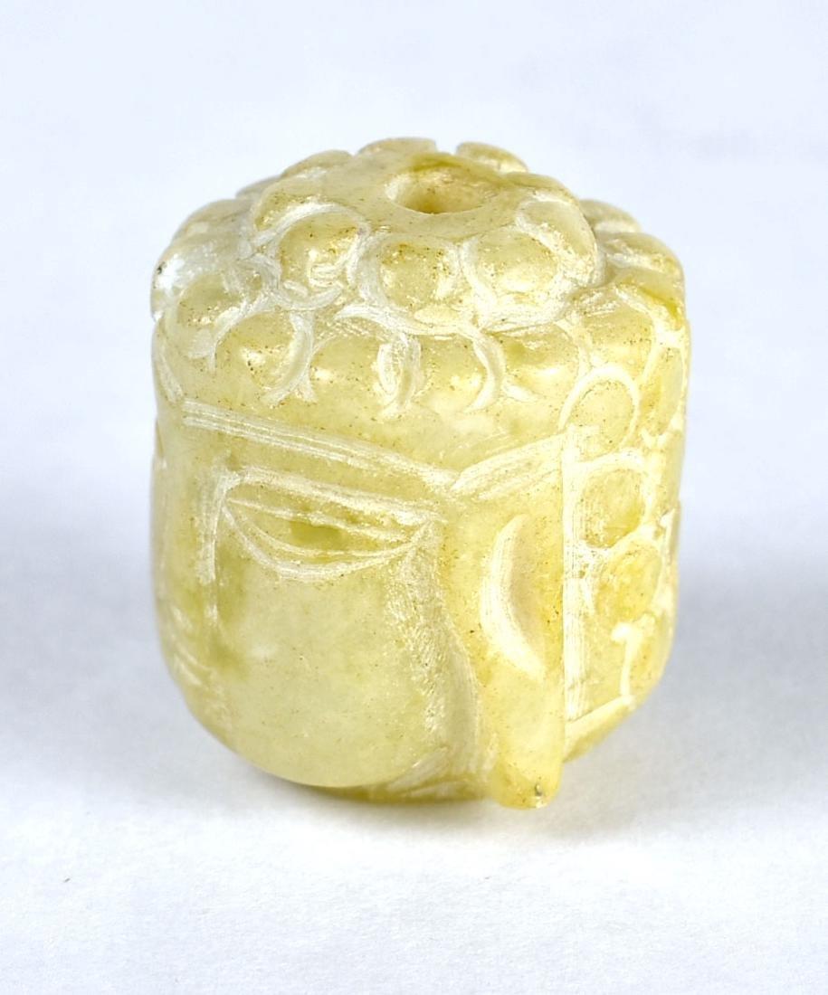 """1 1/8"""" Buddha Head Bead - 4"""