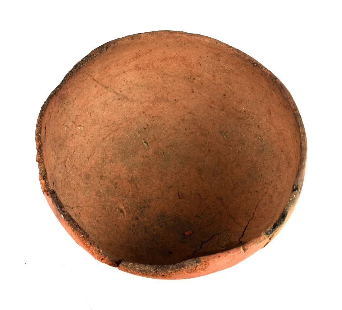 """7 1/2"""" Mogollon Kinishba Redware Bowl - 4"""